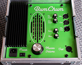 Tactile monitor amplifier - the Bum Chum