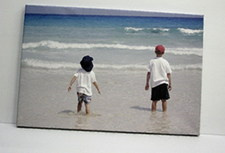 Holiday photographs printed on canvas