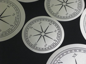 engraved stainless steel compass dial faces