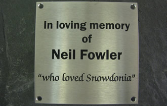 Stainless Steel Engraved Memorial Plaque