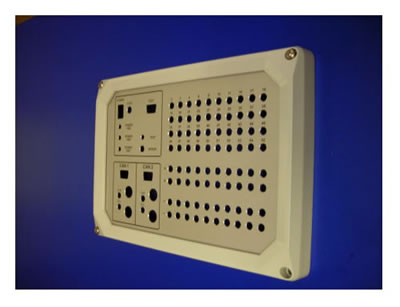anoprinted machine control panels