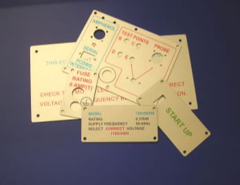 anodised machine label signs