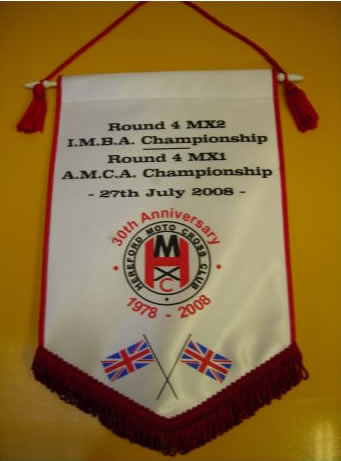 Pennants supplied and printed to your own design
